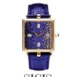 kék mozaik óra