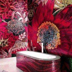 flower power vörös mozaik