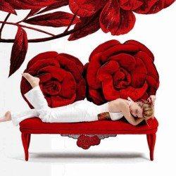 vörös rózsa kanapé