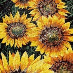 sárga kézzel vágott mozaik
