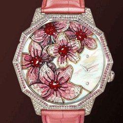 rózsaszín mikromozaik óra