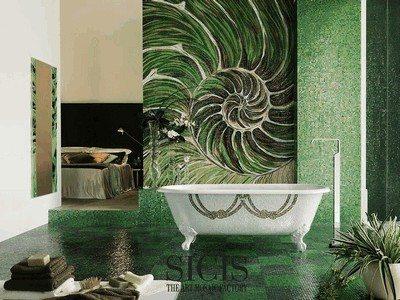 sheer zöld mozaik