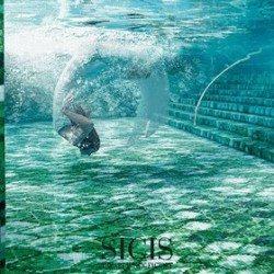 zöld mozaik medence