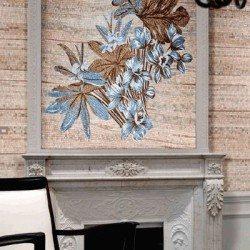 barna mozaikés kék mozaik