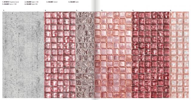 vetrite és rózsaszín mozaik