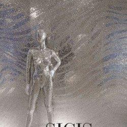 ezüst mozaik fal és manöken