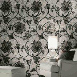 florális ezüst mozaik