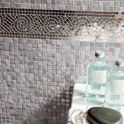 ezüst mozaik bordűr