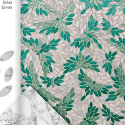 Aviax zöld tükörmozaik