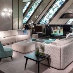 Törtfehér-menta lounge
