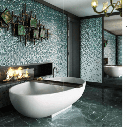 Népszerű zöld színátmenetes mozaik