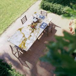 Vetrite laminált üveg kültéri asztalként