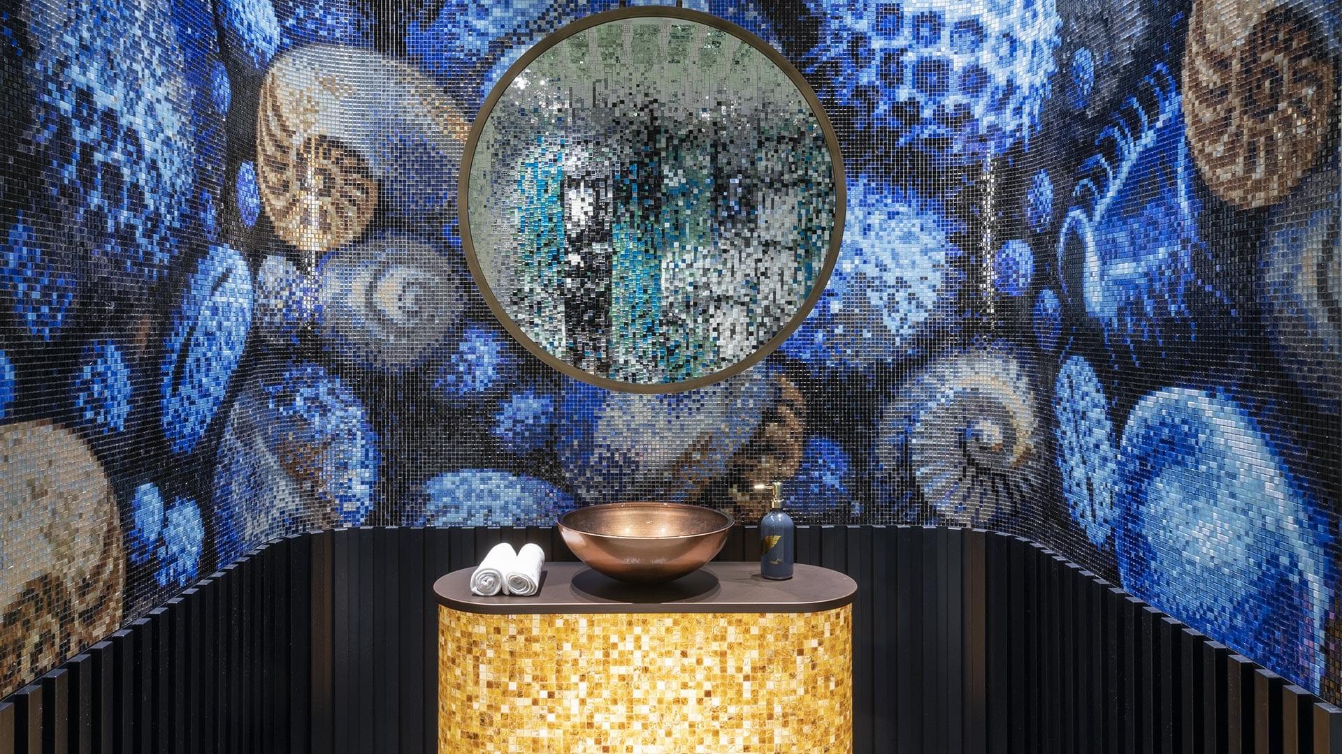 Lélegzetelállító pixeles mozaik-dekoráció