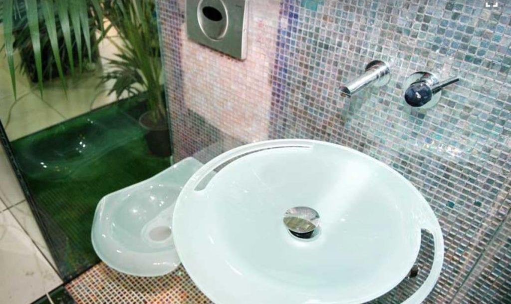 SICIS Waterglass mozaik a fürdőszobában
