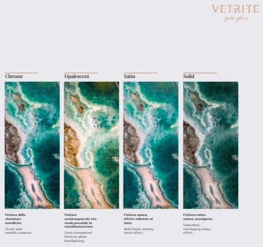 A Vetrite Gem Glass 4 változata
