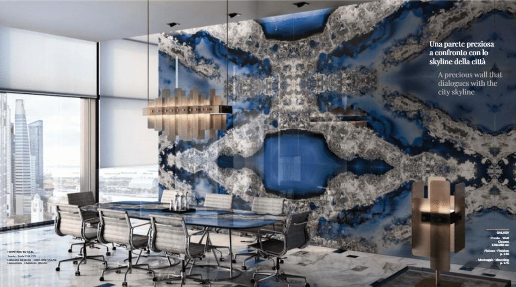 Kaleidoszkóp fal irodában