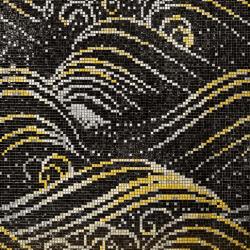 Fekete és sárga hullámos mozaik