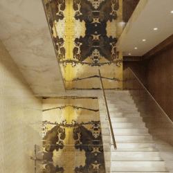 2021-es trendek színei egy lépcsőházban SICIS Vetrite Gem